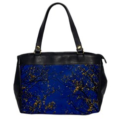 Poplar Foliage Yellow Sky Blue Office Handbags by Amaryn4rt