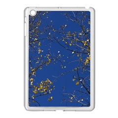 Poplar Foliage Yellow Sky Blue Apple Ipad Mini Case (white) by Amaryn4rt