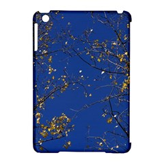 Poplar Foliage Yellow Sky Blue Apple Ipad Mini Hardshell Case (compatible With Smart Cover) by Amaryn4rt