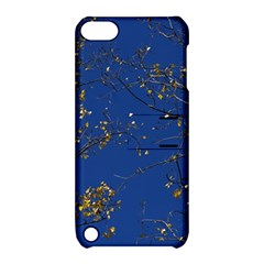Poplar Foliage Yellow Sky Blue Apple Ipod Touch 5 Hardshell Case With Stand by Amaryn4rt