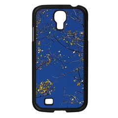Poplar Foliage Yellow Sky Blue Samsung Galaxy S4 I9500/ I9505 Case (black) by Amaryn4rt