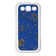Poplar Foliage Yellow Sky Blue Samsung Galaxy S3 Back Case (white)