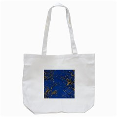 Poplar Foliage Yellow Sky Blue Tote Bag (white) by Amaryn4rt
