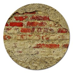 Wall Plaster Background Facade Magnet 5  (round) by Amaryn4rt