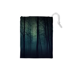 Dark Night Forest Drawstring Pouches (small)  by Brittlevirginclothing