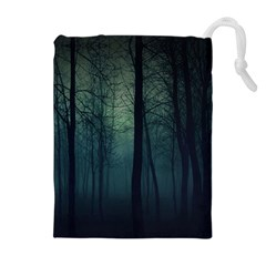 Dark Night Forest Drawstring Pouches (extra Large) by Brittlevirginclothing