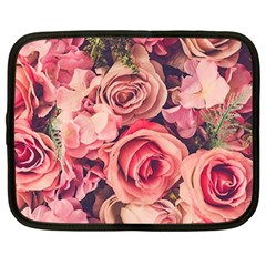 Beautiful Pink Roses Netbook Case (large) by Brittlevirginclothing