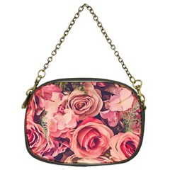 Beautiful Pink Roses Chain Purses (two Sides)  by Brittlevirginclothing