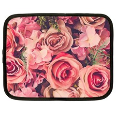 Beautiful Pink Roses Netbook Case (xxl)  by Brittlevirginclothing