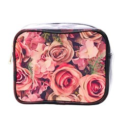 Beautiful Pink Roses Mini Toiletries Bags by Brittlevirginclothing