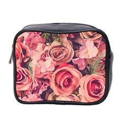 Beautiful Pink Roses Mini Toiletries Bag 2 Side by Brittlevirginclothing