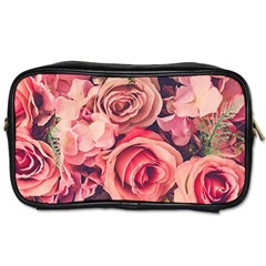 Beautiful Pink Roses Toiletries Bags by Brittlevirginclothing