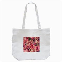 Beautiful Pink Roses Tote Bag (white) by Brittlevirginclothing