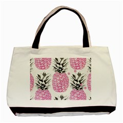 Lovely Pink Pineapple  Basic Tote Bag by Brittlevirginclothing