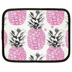 Lovely Pink Pineapple  Netbook Case (xxl)  by Brittlevirginclothing