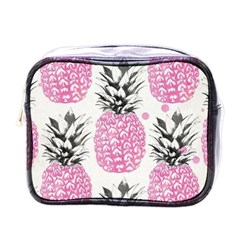 Lovely Pink Pineapple  Mini Toiletries Bags by Brittlevirginclothing