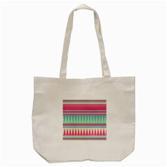 Gorgeous Colorful Pink Bohemian  Tote Bag (cream) by Brittlevirginclothing