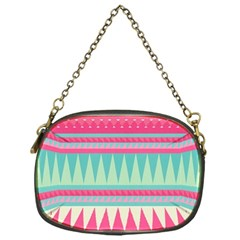 Gorgeous Colorful Pink Bohemian  Chain Purses (one Side)  by Brittlevirginclothing