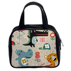 Lovely Cartoon Animals Classic Handbags (2 Sides) by Brittlevirginclothing