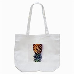 La Pina Pineapple Tote Bag (white) by Brittlevirginclothing