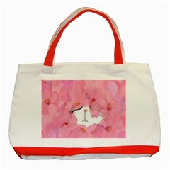 Gorgeous Pink Flowers  Classic Tote Bag (red) by Brittlevirginclothing