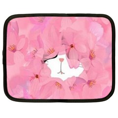 Gorgeous Pink Flowers  Netbook Case (xl)  by Brittlevirginclothing