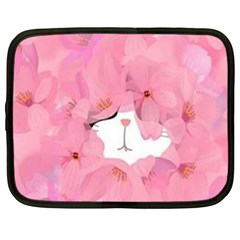 Gorgeous Pink Flowers  Netbook Case (xxl)  by Brittlevirginclothing