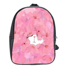 Gorgeous Pink Flowers  School Bags(large)  by Brittlevirginclothing