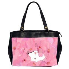 Gorgeous Pink Flowers  Office Handbags (2 Sides)  by Brittlevirginclothing