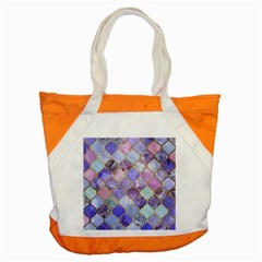 Blue Toned Moroccan Mosaic  Accent Tote Bag by Brittlevirginclothing