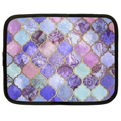 Blue Toned Moroccan Mosaic  Netbook Case (xxl)  by Brittlevirginclothing