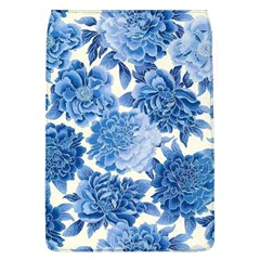 Blue Toned Flowers Flap Covers (l)  by Brittlevirginclothing