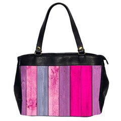 Pink Colored Wood Office Handbags (2 Sides)  by Brittlevirginclothing