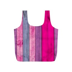 Pink Colored Wood Full Print Recycle Bags (s)  by Brittlevirginclothing