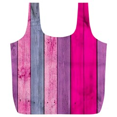Pink Colored Wood Full Print Recycle Bags (l)  by Brittlevirginclothing