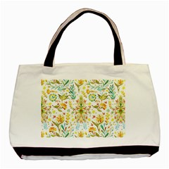 Cute Small Colorful Flower  Basic Tote Bag by Brittlevirginclothing