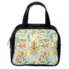 Cute Small Colorful Flower  Classic Handbags (one Side) by Brittlevirginclothing