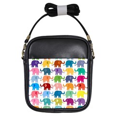 Lovely Colorful Mini Elephant Girls Sling Bags by Brittlevirginclothing