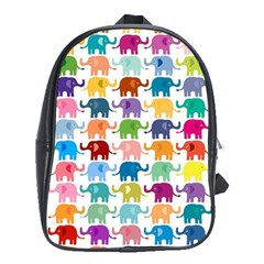 Lovely Colorful Mini Elephant School Bags (xl)  by Brittlevirginclothing