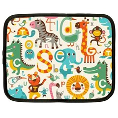 Lovely Small Cartoon Animals Netbook Case (xxl)  by Brittlevirginclothing