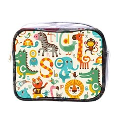 Lovely Small Cartoon Animals Mini Toiletries Bags by Brittlevirginclothing