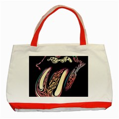 The Rolling Stones Glowing Logo Classic Tote Bag (red) by Brittlevirginclothing