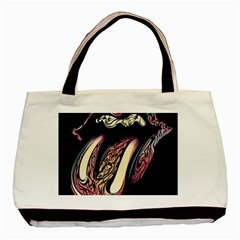 The Rolling Stones Glowing Logo Basic Tote Bag (two Sides) by Brittlevirginclothing