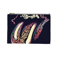 The Rolling Stones Glowing Logo Cosmetic Bag (large)  by Brittlevirginclothing
