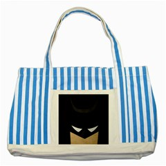 Batman Striped Blue Tote Bag by Brittlevirginclothing
