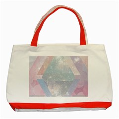Colorful Pastel Crystal Classic Tote Bag (red) by Brittlevirginclothing