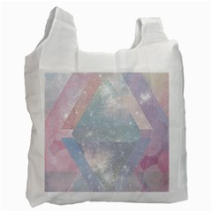 Colorful Pastel Crystal Recycle Bag (one Side) by Brittlevirginclothing