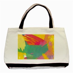 Colorful Paint Brush  Basic Tote Bag by Brittlevirginclothing
