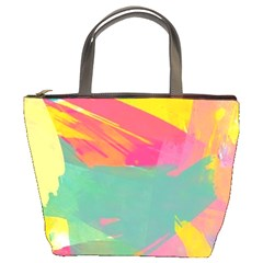 Colorful Paint Brush  Bucket Bags by Brittlevirginclothing
