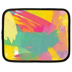 Colorful Paint Brush  Netbook Case (xxl)  by Brittlevirginclothing